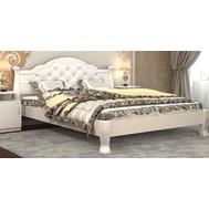 """Ліжко """"Тетяна_елегант"""" Люкс 160*200  білий_zeus white"""