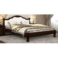 """Ліжко """"Тетяна_елегант"""" Люкс 160*200  горіх_zeus white"""