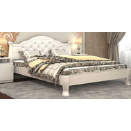 "Ліжко ""Тетяна_елегант"" Люкс 160*200  білий_angel white (мягка спинка +250 грн)"