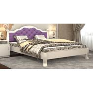 "Ліжко ""Тетяна_елегант"" Люкс 160*200  білий_angel violet (мягка спинка +250 грн)"