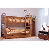 """Ліжко дитяче двоярусне """"Аріна"""" 80*190  TIN_118  (з шухлядами драбинка з ліва)"""
