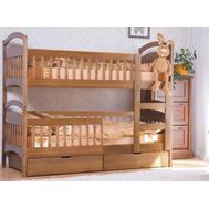 """Ліжко дитяче двоярусне """"Аріна"""" 80*190  TIN_118  (з шухлядами  перегородками + прохід)"""
