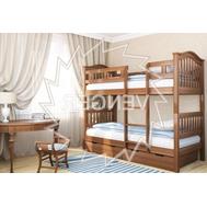 """Ліжко дитяче двоярусне """"Максим"""" 90*200  TIN_105  (з задньою перегородкою і шухлядами)"""
