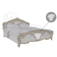 """Спальня """"Єва""""  Ліжко 1,6х2,0  глянець білий  м'яка вставка  EV-66-WB"""