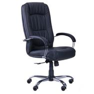 Крісло для керівника  Марсель хром  (механізм ANYFIX )  Неаполь №20 (чорний)
