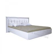 """Спальня """"Белла"""" Ліжко1,6х2,0 Профіль та М'яка Спинка з кракасом (Білий глянець)"""